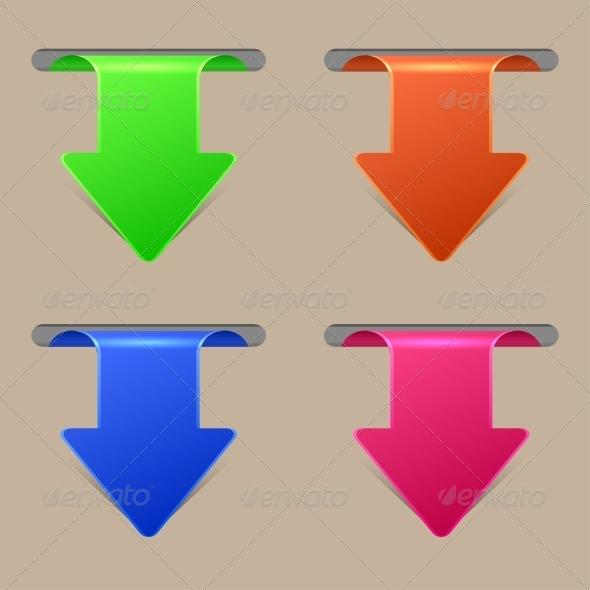 GraphicRiver Arrow Stickers Set 6522808