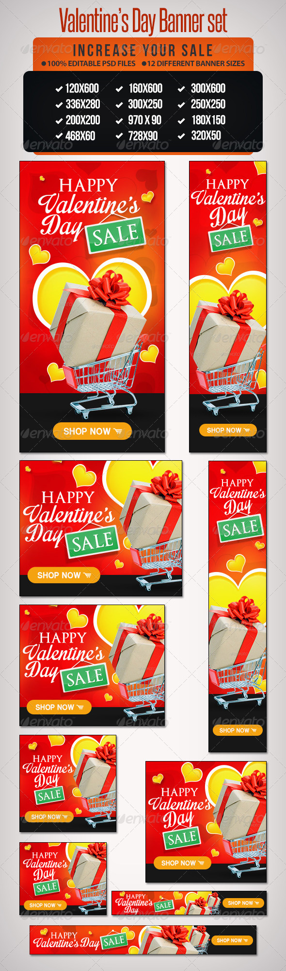 GraphicRiver Valentine s Day Sale Banner Set- 12 Google Sizes 6522822