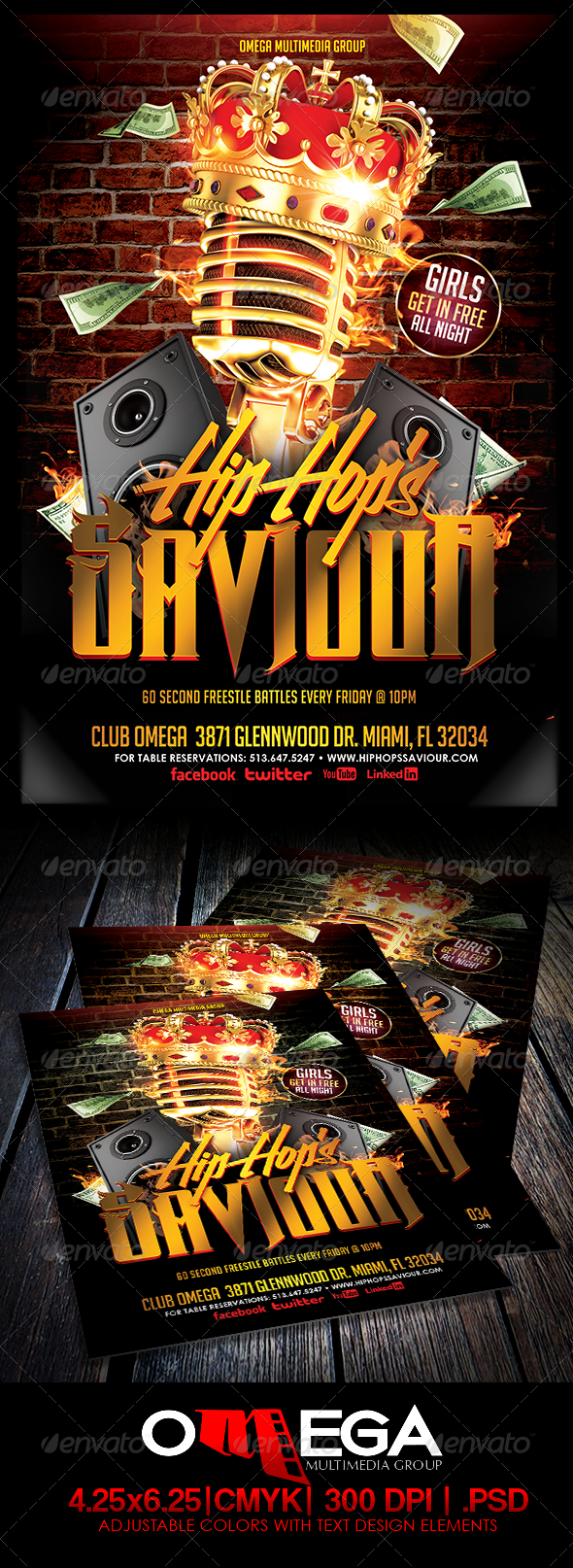 Hip Hop's Saviour - Events Flyers