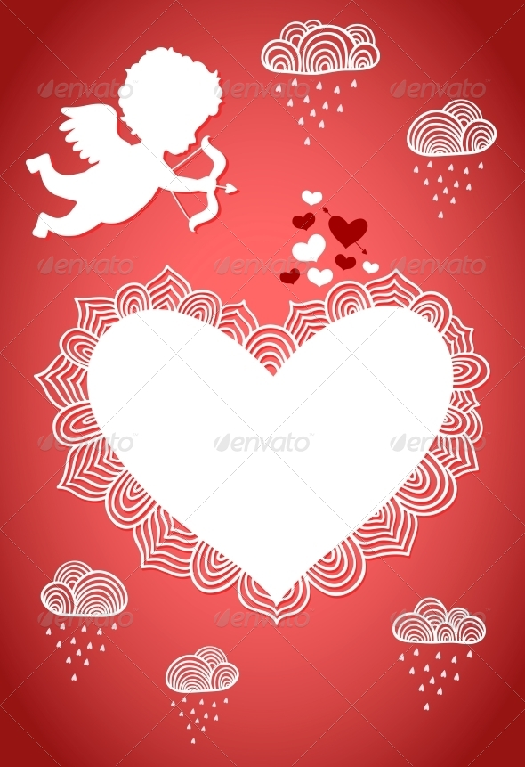 GraphicRiver Cupid Valentine Poster or Postcard 6523004