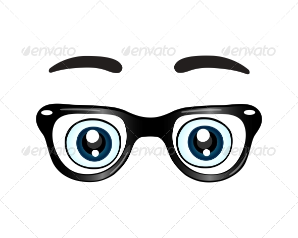GraphicRiver Glasses with Eyes Icon 6523006