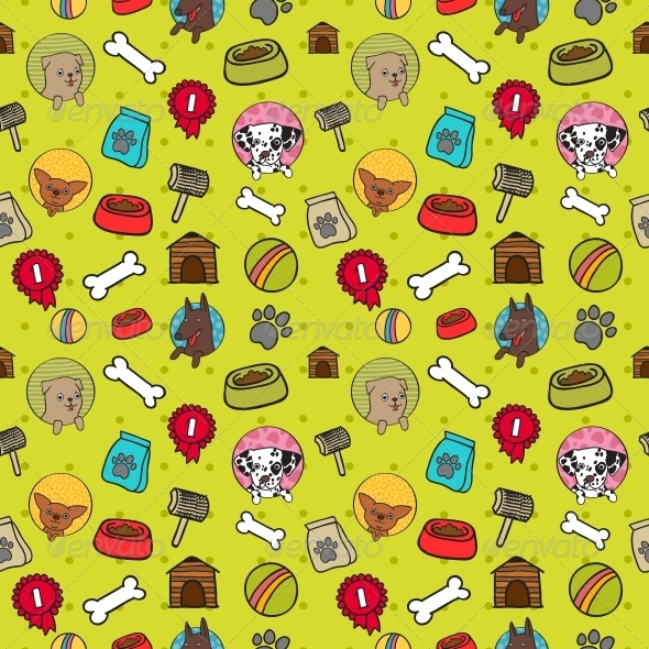 Seamless Dogs Pattern | GraphicRiver