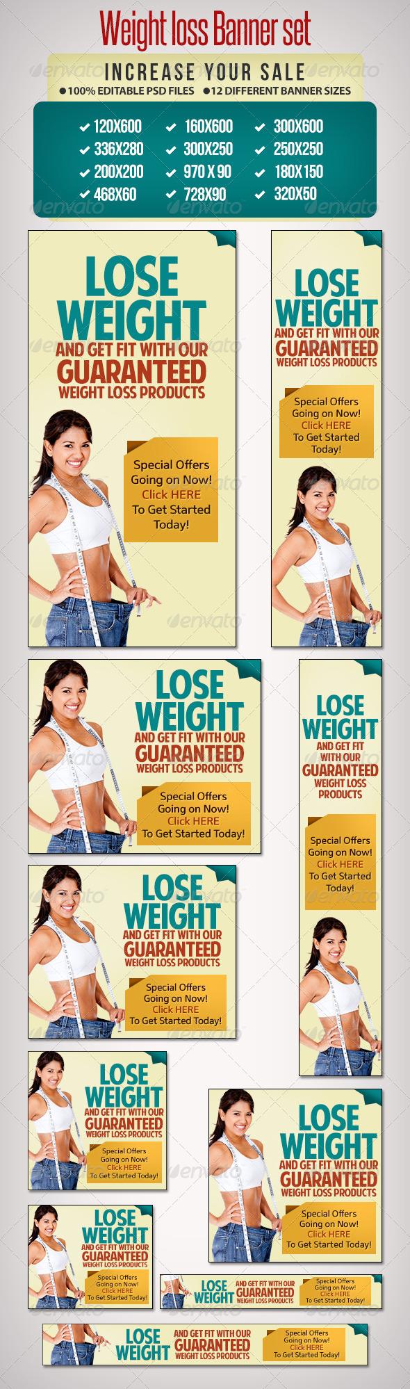 GraphicRiver Weightloss Banner Set 4 12 Google Standard Sizes 6523033