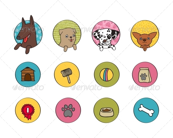 GraphicRiver Dogs Icons Set 6523035
