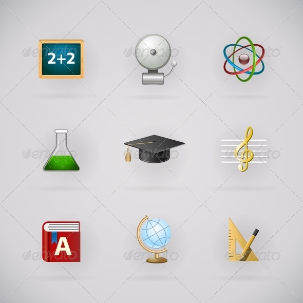 GraphicRiver Education Pictogram Icons Set 6523099