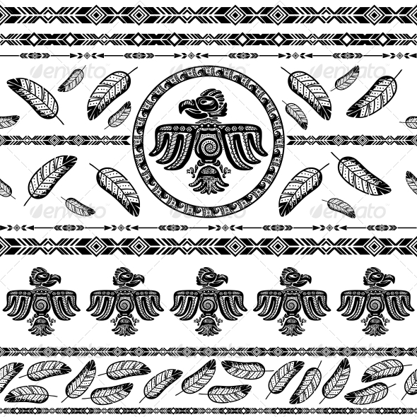 GraphicRiver Indian Tribal Pattern Background 6523190