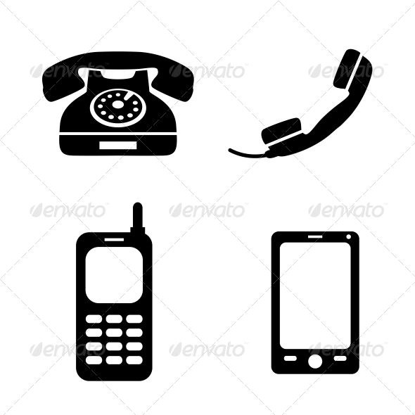 GraphicRiver Collection of Phone Icons 6523194