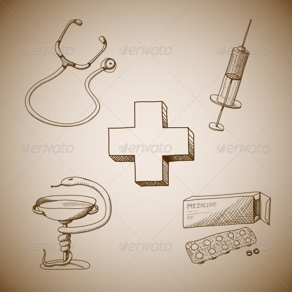 GraphicRiver Collection of Medical Symbols 6523198