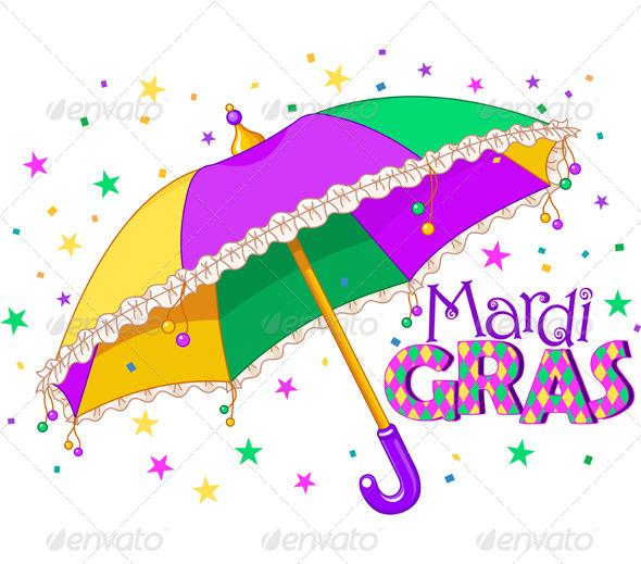 GraphicRiver Mardi Gras Umbrella 6523374
