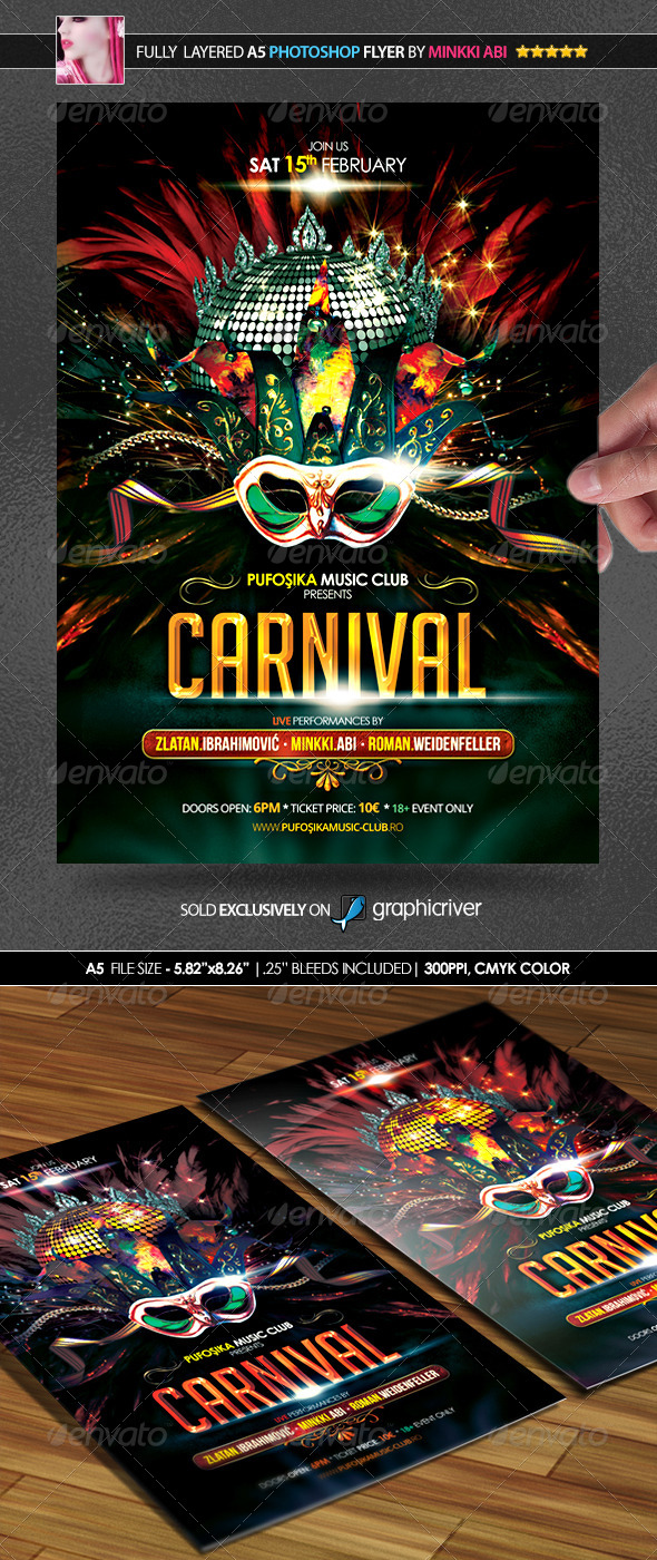 GraphicRiver Carnival Party Poster Flyer 6523388