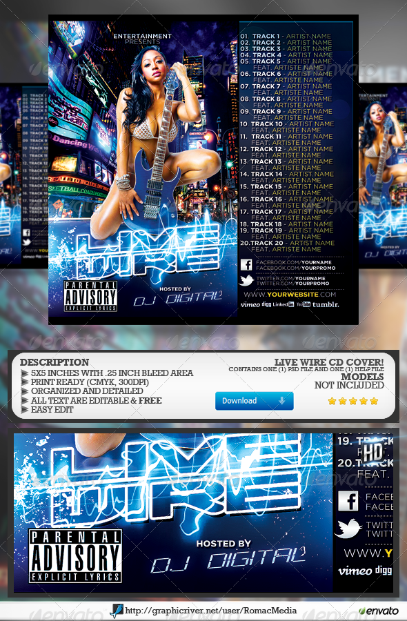 GraphicRiver Live Wire CD Cover 6523543