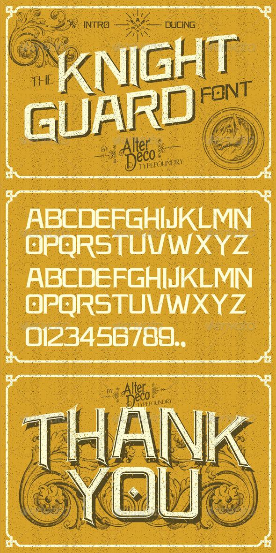 GraphicRiver Knight Guard Font 6523545