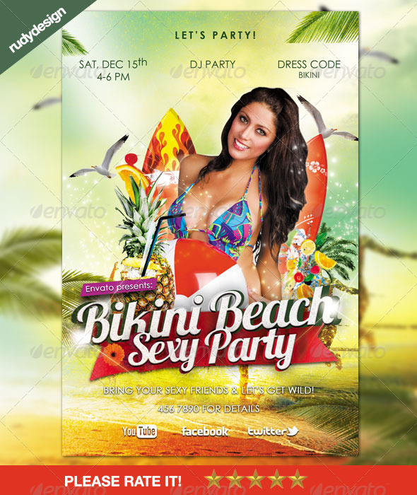 Bikini Beach Party Sexy Flyer