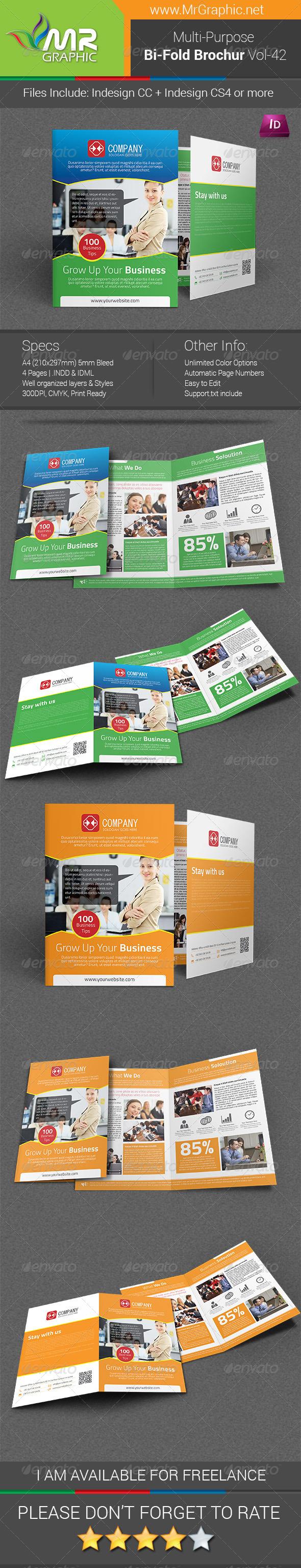 GraphicRiver Multipurpose Bifold Brochure Template Vol-42 6523585