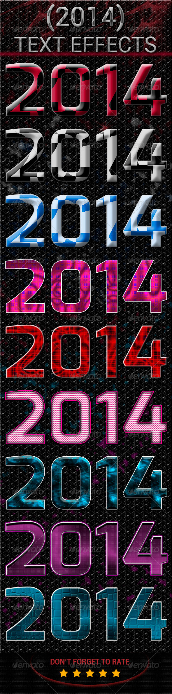 GraphicRiver New Year Text Effect 6480494