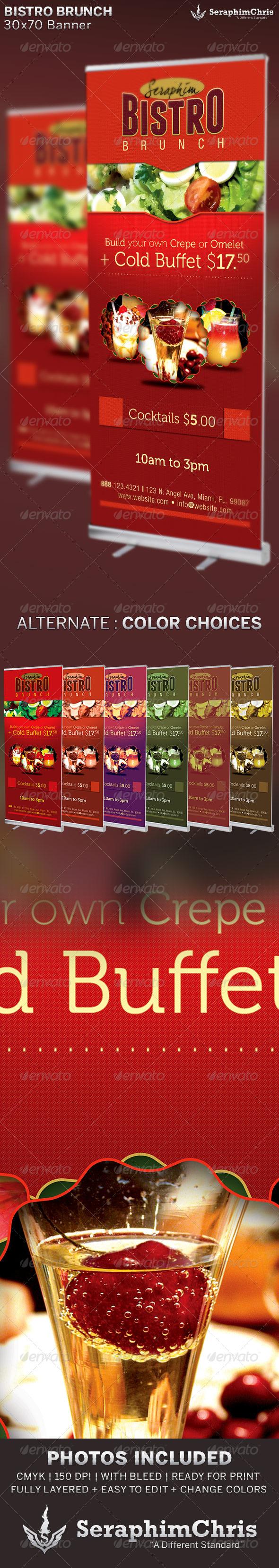 GraphicRiver Bistro Brunch Restaurant Banner Template 6523695