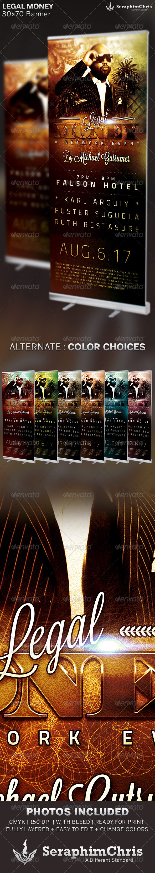 GraphicRiver Legal Money Networking Banner Template 6523701