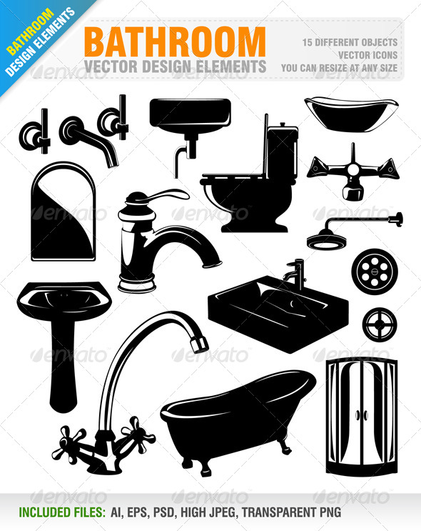 GraphicRiver Bathroom Design Elements 6523795