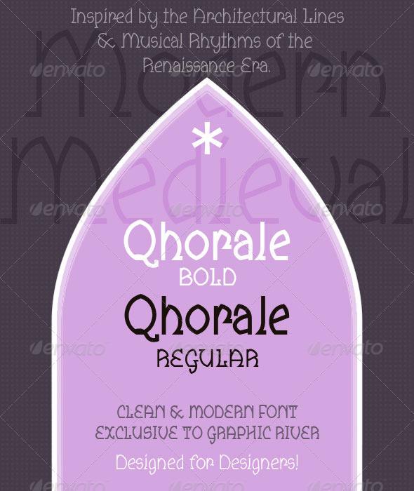 GraphicRiver Qhorale Regular & BOLD Modern Latin 6523909