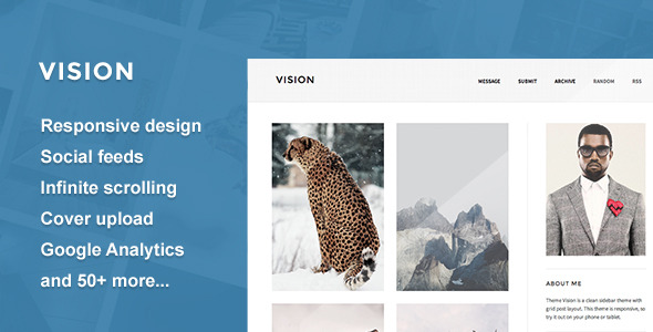 Vision - A Responsive Tumblr Theme