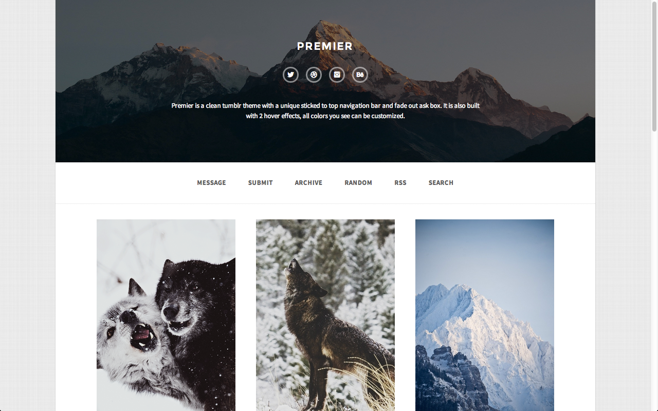 Premier A Responsive Tumblr Theme By Thejenyuan
