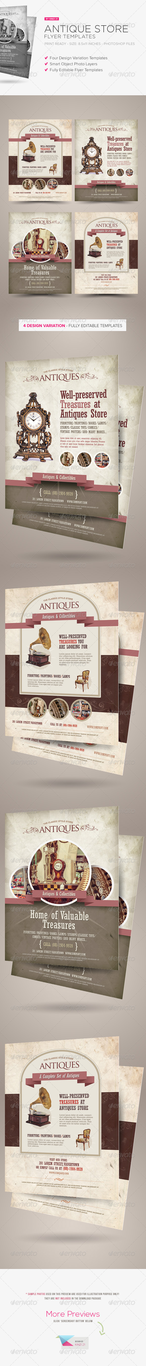 GraphicRiver Antique Store Flyer Templates 6524288