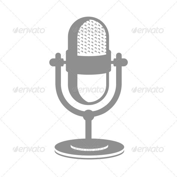 GraphicRiver Retro Microphone Icon 6524369