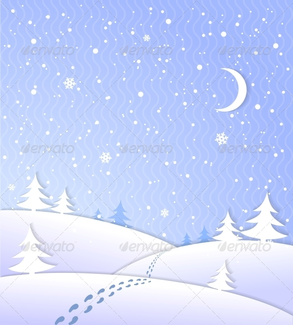 GraphicRiver Winter Background with Falling Snow 6524374