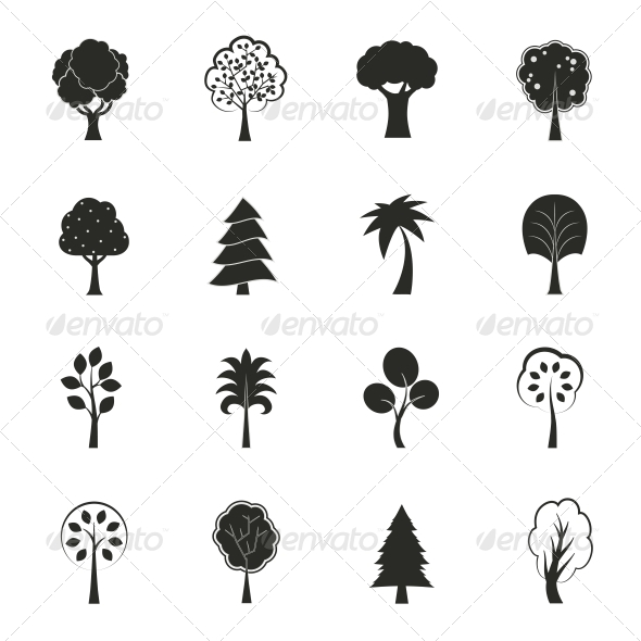 GraphicRiver Abstract Ecology Growth Icons Set 6524381