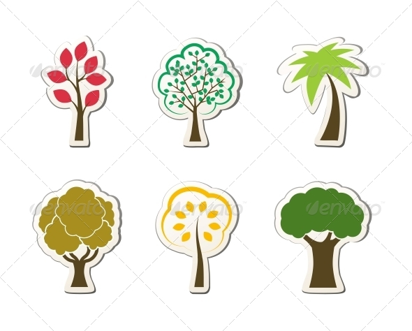 GraphicRiver Tree Symbols for Green Web Design 6524382