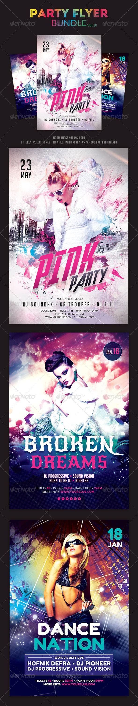 Party Flyer Bundle Vol.18 - Clubs & Parties Events