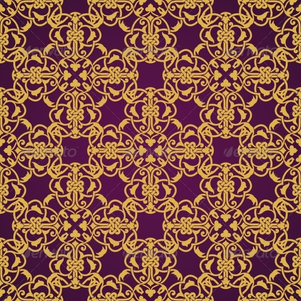 Seamless Yellow and Violet Pattern