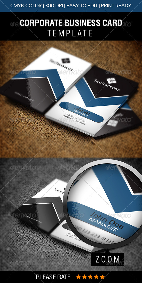 GraphicRiver Techaccess Business Card 6430166