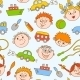 Seamless Doodle of Smiling Boys and Girls - GraphicRiver Item for Sale
