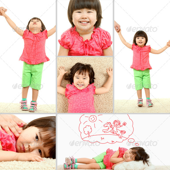 Child collage - Stock Photo - Images