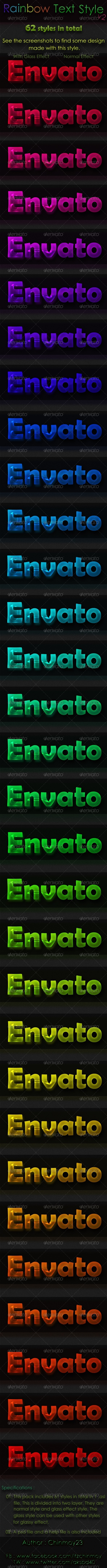 GraphicRiver Rainbow Text Style v2 6524750