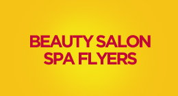 Beauty Salon Spa Promotion Flyers