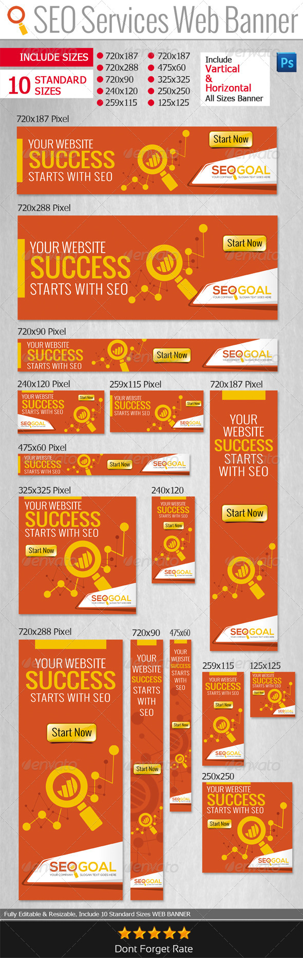 GraphicRiver SEO Services Web Banners & Adds 6525106