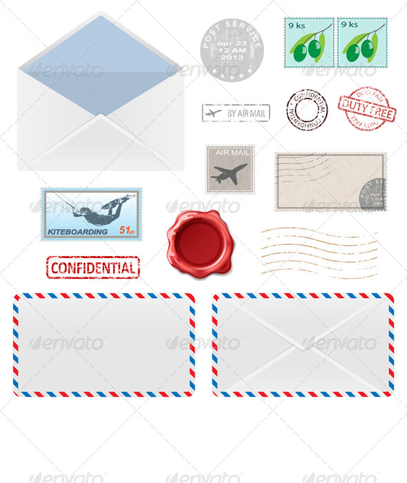 GraphicRiver Postal Business Icons 6525176