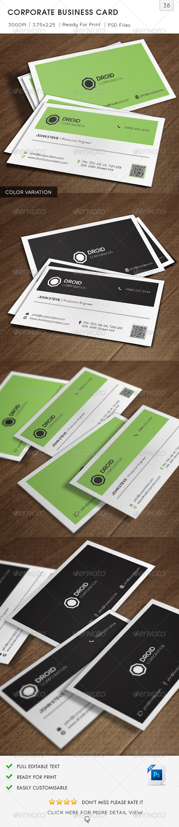 GraphicRiver Corporate Business Card v38 6501867
