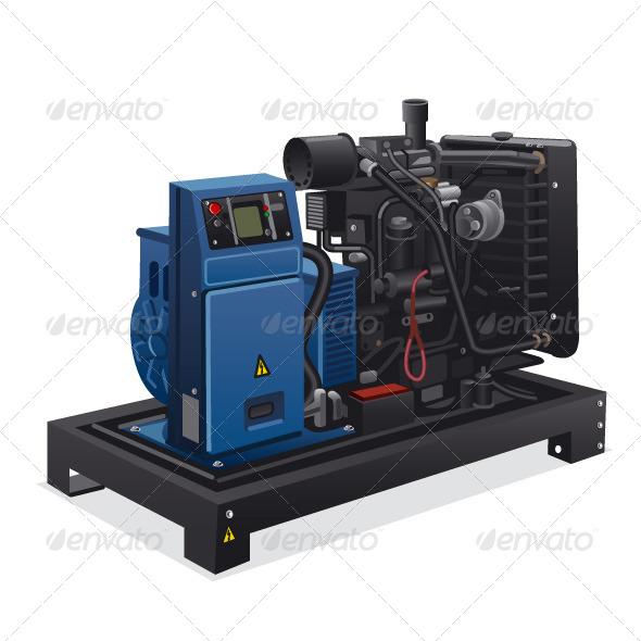 GraphicRiver Diesel Generator 6525444