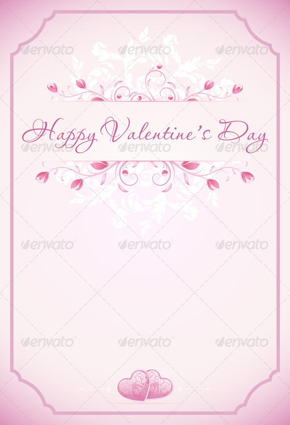 GraphicRiver Happy Valentines Day Card 6525680