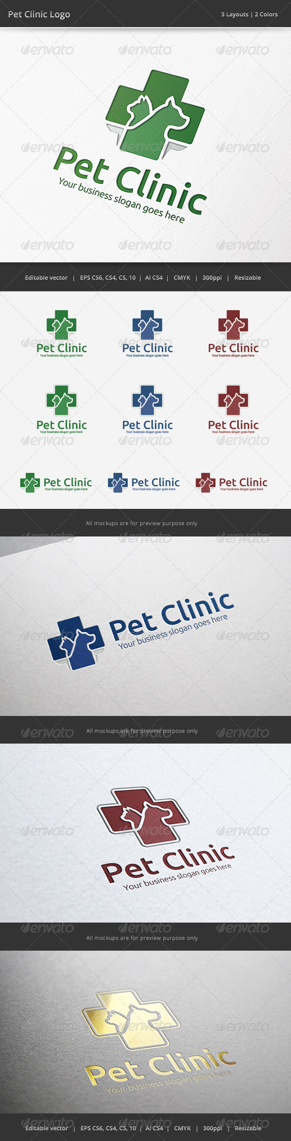 GraphicRiver Pet Clinic Veterinary Logo 6525831