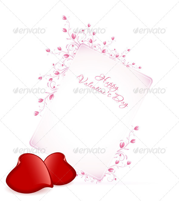 GraphicRiver Happy Valentine s Day Floral Lettering 6525840