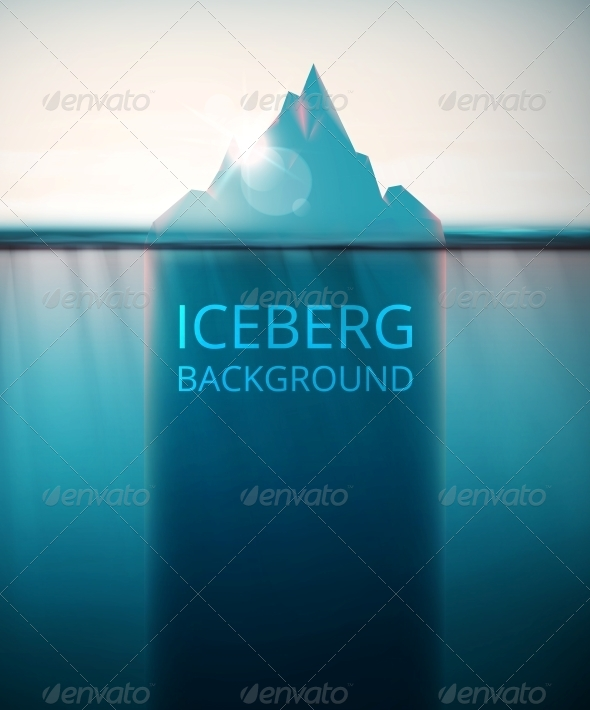 GraphicRiver Iceberg Background 6526086