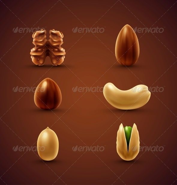 GraphicRiver Set of Nuts 6526093