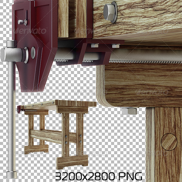 GraphicRiver Woodworking Bench 6526103