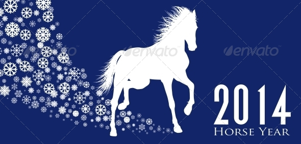 GraphicRiver Horse Year 6526143