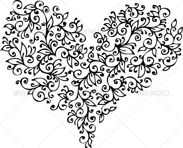 GraphicRiver Romantic Heart Vignette XVIII 6526203
