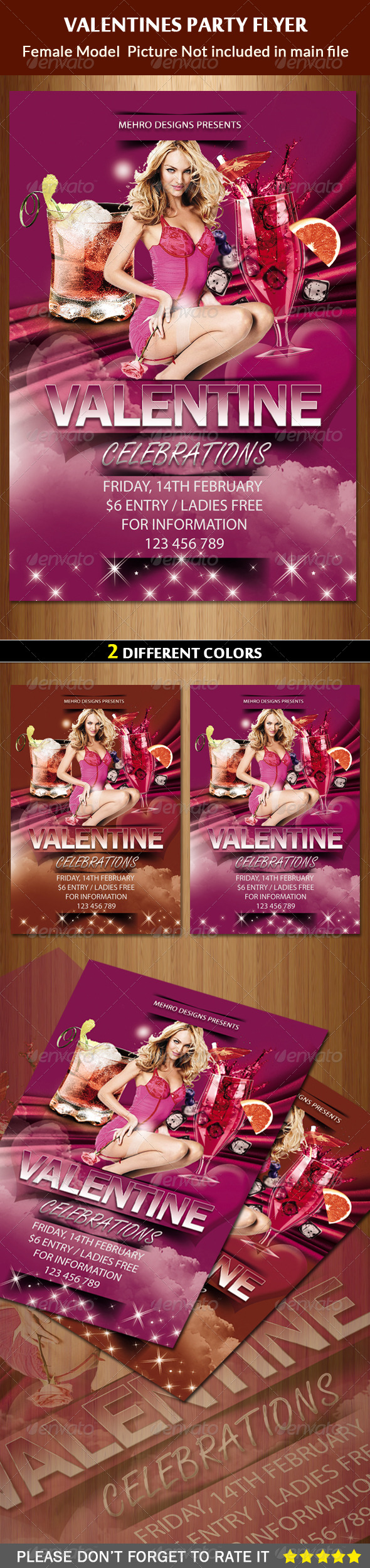 GraphicRiver Valentines Day Party Flyer 6526283